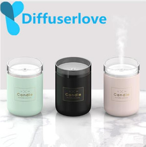 Diffuserlove 280ML Air Humidifier Candle Romantic Soft Light USB Essential Oil Diffuser USB Purifier Aroma Anion Mist Maker