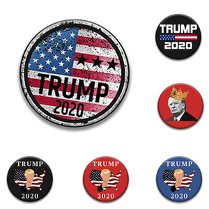 26 style Trump Badge Pins 2020 Broches Election américaine Fournitures Trump Badge Keep America Great Party Favor