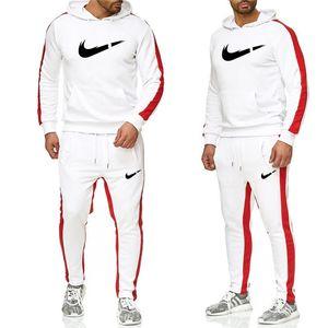 Новые 2019 Марка костюмы мужчин термобелье мужчин Спортивная одежда наборы Флис Толстая толстовку + штаны спортивный костюм Malechandal Hombre