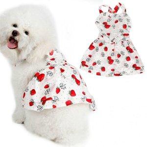 Nuevas faldas para perros Vestido de mascota para perros Vestido de princesa Ropa de boda para perros pequeños y medianos Vestidos de algodón Sling Pet Cat falda