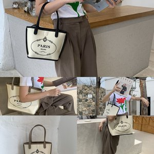 2020 high-texture printing bucket Canvas canvas slanting all-match foreign style mother bag bag three-piece suit