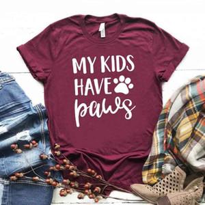 Mis hijos tienen patas impresión mujeres camiseta algodón Casual divertida camiseta para Lady Girl Top Tee Hipster