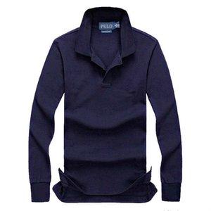 mens lauren ralph Lauren Ralph polo  mens tasarımcı Yeni büyük at sonbahar uzun kollu tişört Erkek polo Gömlek% 95 pamuk malzeme Uzun kollu t -tişörtler polos