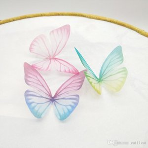 Sigle Layer Tulle Butterfly DIY Handmade Hairpin Necklace Earring Simulation Gauze Butterfly Jewelry DIY Hair Accessories