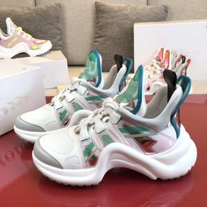 Vintage Archlight Sneaker Lüks Erkek Ayakkabı Kadınlar Casual Ayakkabı Tasarımcısı Beyaz Yeşil Deri Sneaker Kadınlar Elbise Ayakkabı