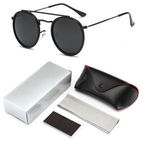 Erkekler için 2019 Moda Güneş Gözlüğü Klasik Vintage Marka Tasarım Metal Stil Yuvarlak Güneş Gözlüğü Oculos De Sol Ile Logo Kutusu 3647