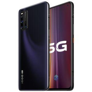 """Vivo original IQOO 3 5G mobile LTE Téléphone 6Go RAM 128Go ROM Snapdragon 865 Octa base Android 6.44"""" 48MP ID d'empreintes digitales visage Wake téléphone cellulaire"""