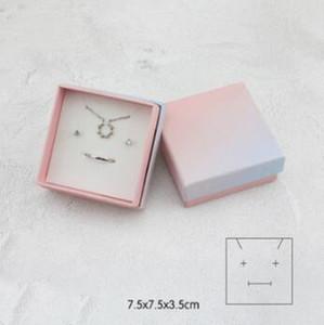 Boîte à bijoux New Mode ins Rose Gradient bleu bijoux boîte d'emballage Bague Bracelet Collier de réception multi-usages cadeau boîte d'emballage WL665