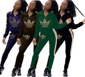 المرأة مصمم العلامة التجارية ملابس الربيع عارضة هوديس السراويل تمتد عالية 2 قطعة مجموعات بلوزات نصب منصة عداء ببطء دعوى السترة بدلة رياضية 2729