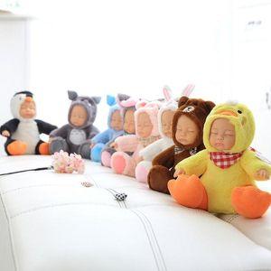 25 bonecos de simulação-venda quente de pelúcia brinquedos do bebê dormir brinquedos boneca animais modelagem boneca sentada