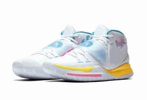 Hot Kyrie 6 Neon Graffiti Chaussures de basket-RABAIS Homme Femme Designer Shoe Livraison gratuite avec la boîte Drop Shipping US4-US12