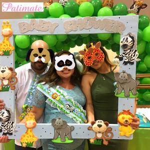 PATIMATE 12 stücke EVA Schaum Masken Halloween Dekore Tiermasken Gesicht Zoo Dschungel Party Maske Geburtstag Party Dekore KidsParty Favors