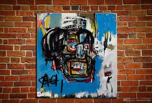 """vA. Pop-Art-Jean-Michel Basquiat """"Untitled, 1982"""" Handpainted HD-Druck Abstrakte Kunst-Ölgemälde auf Leinwand-Wand-Kunst-Deco-Qualitäts-64"""