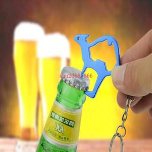 1000 pcs forma de canguru abridor de garrafas de metal pode abridor com chaveiro chaveiro presente relativo à promoção