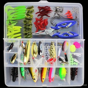 ALLBLUE Fishing Lure Minnow Popper Wobbler Spoon Metal Lure Soft Bait Fishing Lure Kit Isca Artificial Mixed Color Style Weight