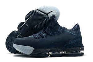 Lebron 16 Low x Titan Agimat Homens Basketball Sports Shoes proteger James 16 Obsidian Ouro metálico Azul Força Mens Designer Sports Trainers