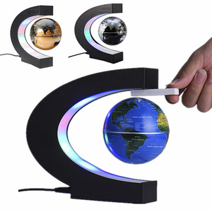 LED levitación magnética electrónica globo flotante Mundial Mapa antigravedad Noche de luz LED de la decoración del hogar del regalo de cumpleaños de la novedad