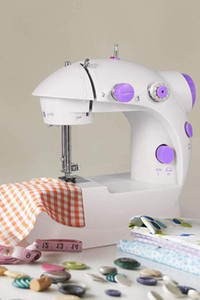 US Stock Mini Portable Handheld Sewing Machines Stitch Sew Needlework Cordless Clothes Fabrics Electrec Sewing Machine Stitch Set 16