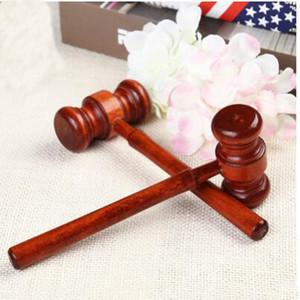1PC mini martillo Abogado Decoración Martillos Martillo del juez Pequeño cumpleaños del juguete de regalo de Navidad de madera de madera multiherramienta