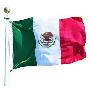 3x5 Мексика Флаг Mexican Страна Национальный флаг Крытый наружного использования дешевой цене 68D Polyester Отпечатано с двух втулок