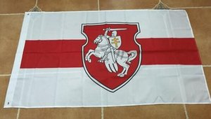 Belarus White Knight Pagonya Flags Banner 3X5FT Custom Flags 100D 100% Polyester Outdoor Use, for Festival Hanging Advertising
