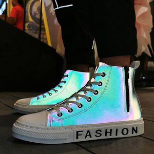 Scarpe casual luminosi Skateboard Shoes High Top Sneakers Sport Hip Hop Walking Street Uomo Chaussure Homme