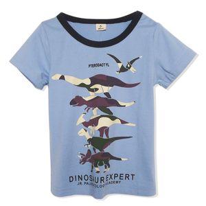 Cross Border for 2019 Summer New Style Children Cotton Short Sleeve T-shirt BOY'S Cartoon Dinosaur Summer Wear