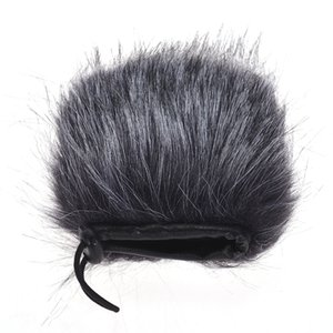 EY-M24 Furry Outdoor Microphone Windscreen Artificial Fur Muff Wind Cover 9cm*5cm (L * D) for Stereo Video Mic Pro Grey-White