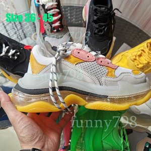 2019 Best Tess S Paris track Men Women Chaussures Triple S Clunky Sneakers Casual Shoes Hot Authentic Designer Shoes [AIR Cushion]1564406080