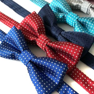 Cool Kids Boys Polka Dot Bow Tie 18 Candy Colors Dot Cute Hot Sale Butterfly Wedding Party Pet Bowtie Tuxedo Ties Accessories Children Navy