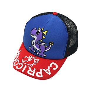 Мода 1-4Y Baby Boy Hat Письмо Soft Cotton Динозавр шляпа обрезные регулируемые аксессуары для волос Baseball Cap Hat Берет