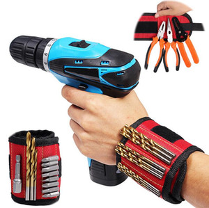 Magnetic Wristband Pocket Tool Belt Pouch Bag Screws Holder Holding Tools Magnetic bracelets Practical strong Chuck wrist Toolkit 5 Colors