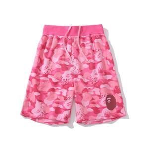 2020 Yaz Yeni Genç Pembe Mavi Kamuflaj Casual Plaj Şort Erkekler Casual Plaj Şort Spor Diz Boyu Pantolon