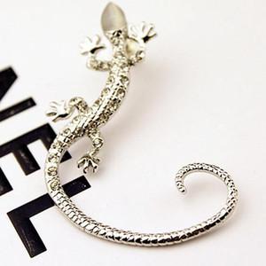 Cip em brincos moda brincos de strass manguito de orelha, luxo elegante rosa de ouro exagerado brincos de lagartixa lagartixa