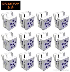 TIPTOP 12 unités Rechargable Stage Light 6x15W 5in1 RGBAW à piles LED Par