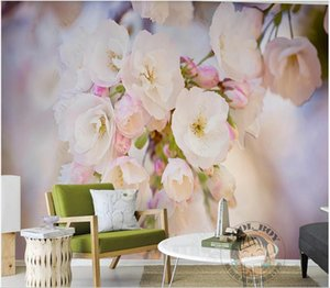 3d wallpaper custom photo mural Modern painting small broken flower romantic cherry blossom background on wall living room home decoration