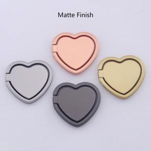 Finger métal magnétique Anneau Holder Grip Love Heart 360 degrés de rotation Béquille Stents supports universels de bricolage Blanks pour les téléphones cellulaires comprimés