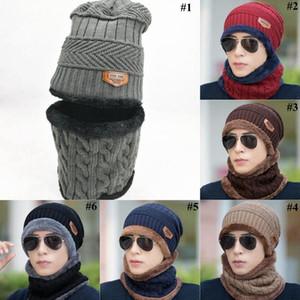 Cálido hombres Beanie bufanda Conjunto suave invierno de las mujeres sombrero hecho con Sport Bufanda niños al aire libre Set OOA7310