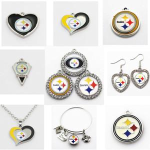 Charms US Football Team Pittsburgh Steeler ciondolano fascini del pendente di sport fai da te collane di fascini dei monili Hanging