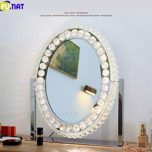 FUMAT cristal Miroirs Stepless LED Dimming Lampe de bureau Miroir de maquillage Vanity Light Table Ins Moderne Décoration Lampes pour phares