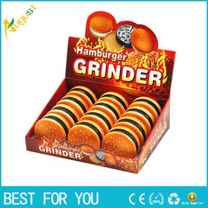 55MM 3 Layers Alloy Tobacco Grinder Herb Grinder Tobacco Spice Hamburger Style Crusher Hand Muller Metal Grinder