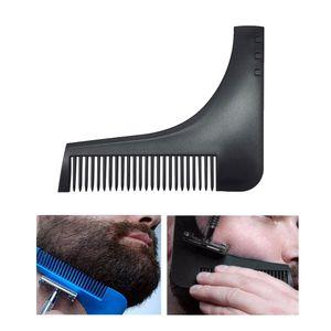 Sakal Şekillendirici Şablon Tarak All-In-One Aracı Tıraş Saç Sakal Trim Tarak Bıyık Sakal Stencil Kılavuzu Şekillendirme Şekillendirici Aracı