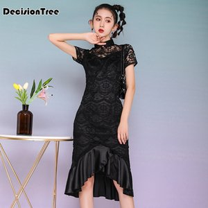 2020 Chinese Dress evening party dress chinese style women qipao improved half sleeve print cheongsam traditional