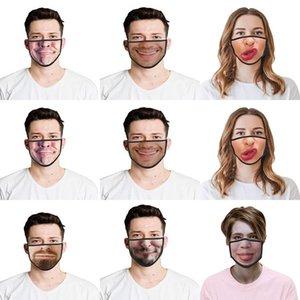 Uk Kargo Unisex Yıkanabilir Komik Hayvan Pamuk toz geçirmez Koruyucu Yüz Maskeleri Yaratıcı Baskılı Yüz Maskesi Uk uTYiu Maskesi