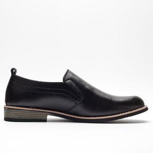 BUVAZIK Marka Deri Özlü İş Elbise Pointy Siyah Nefes Örgün Düğün Temel ayakkabı erkekler CX200731