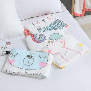 Colorful Cartoon Cute Animal Blanket Newborn Skin Friendly Cotton High Quality Baby Kindergarten Blanket Portable Stroller Wrap