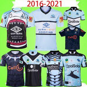 2020 2021 CRONULLA-Sutherland Sharks Rugby Jersey 2016 2017 camisa indígena vendimia Liga jerseys retro Blackshark héroe Edición