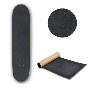 Noir Skate Scooter Poncer Autocollant skateboards Poncer Grip Griptape patinage Scooter autocollant 80cm * 20cm