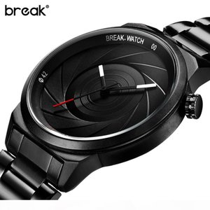 Break Creative Unique Design Mens Watches Top Wristwatch Quartz Sports Wrist Watch Men Gift Clock Relogio Masculino