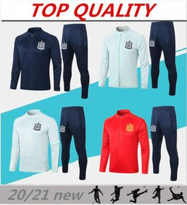 2020 Espagne adulte Veste Survêtement camiseta españa Morata 20/21 A.INIESTA FABREGAS RAMOS DIEGO CITP Football Veste Survêtement